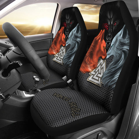1stIceland Viking Car Seat Covers, Hati and Skoll Valknut ChainMail K13 - 1st Iceland