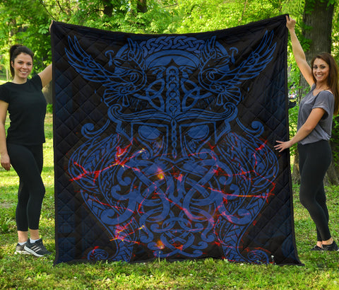 Vikings Premium Quilt, Odin The All Father Th00 - 1st Iceland