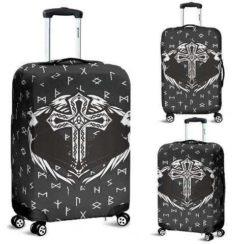 1stIceland Viking Luggage Cover, Eagles Cross Runes A2 - 1st Iceland