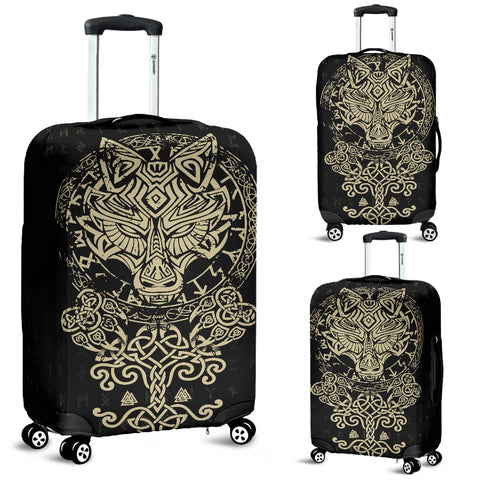 1stIceland Viking Wolf Fenrir Luggage Covers TH12 - 1st Iceland