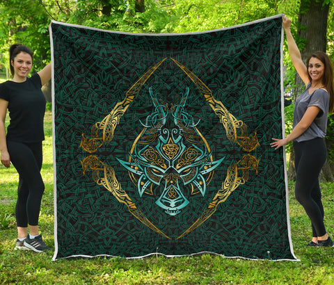 Image of 1stIceland Viking Premium Quilt, Fenrir The Vikings Wolves Th00 - 1st Iceland