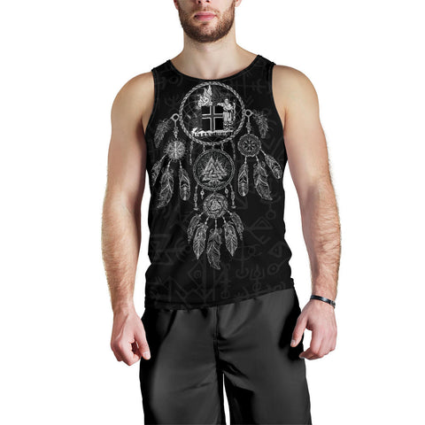 Image of 1stIceland Viking Men's Tank Top, Dreamcatcher Iceland Coat Of Arms K4 - 1st Iceland
