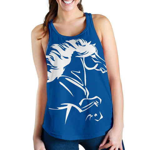 Image of 1stIceland Women's Racerback Tank, Icelandic Horse Coat Of Arms K4 - 1st Iceland