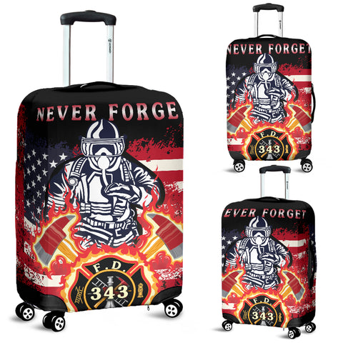 Image of 1stIceland American Firefighters Luggage Covers 9.11.01 Memorial K8 - 1st Iceland