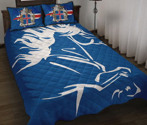 1stIceland Quilt Bed Set, Icelandic Horse Coat Of Arms