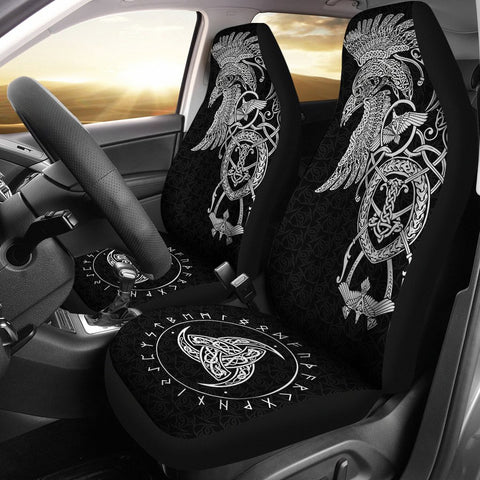 1stIceland Viking Car Seat Covers, Odin's Raven Horn Of Odin A7 - 1st Iceland