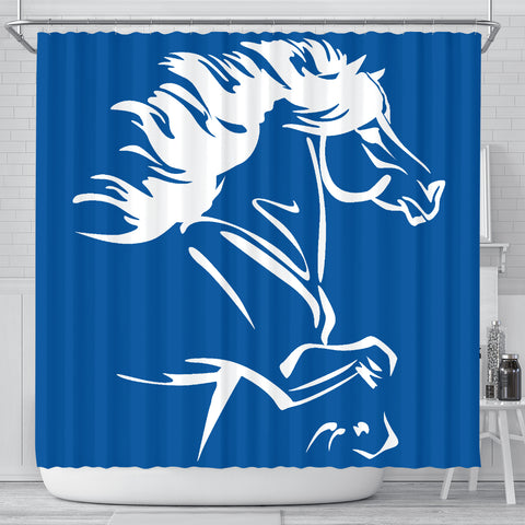 Image of 1stIceland Shower Curtain, Icelandic Horse Coat Of Arms