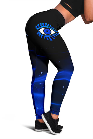 Image of 1stIceland Evil Eye Women Leggings Original Style - Blue K8 - 1st Iceland