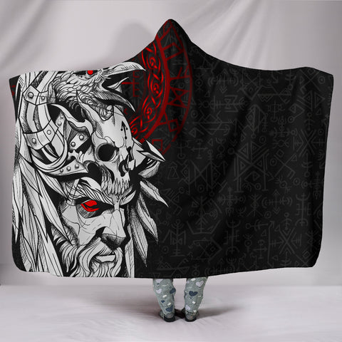 1stIceland Viking Odin And Raven Hooded Blanket TH12 - 1st Iceland