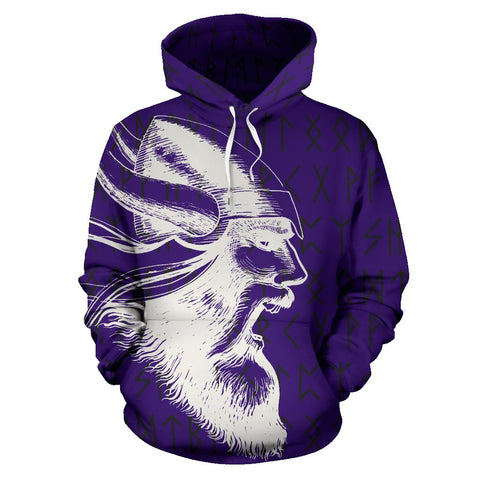 1stIceland Viking Pullover Hoodie, Odin Warrior Viking Helmet Axes Runes TH7 - 1st Iceland