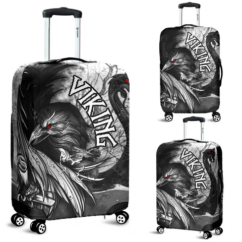 Image of 1stIceland Viking Luggage Covers Raven And Drakkar | 1stIceland.com