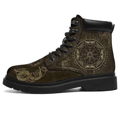 Image of 1stIceland Viking Boots, Helm Of Awe Runes Circle K7 - 1st Iceland