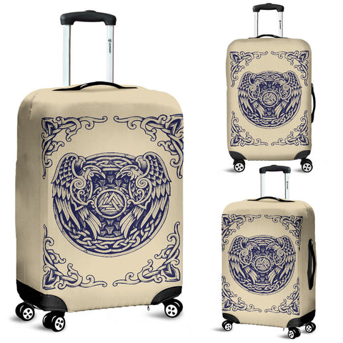1stIceland Viking Luggage Covers, Valknut Huggin And Muninn Th00 - 1st Iceland