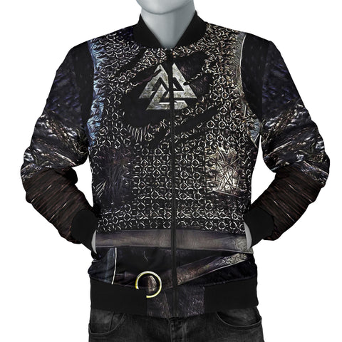 Image of 1stIceland Viking Bomber Jacket, Valknut 3D Viking Armour Men TH00 - 1st Iceland