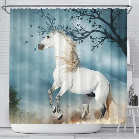 Spanish Horse Shower Curtain Andalusian Horse In The Dust K13 - 1st Iceland