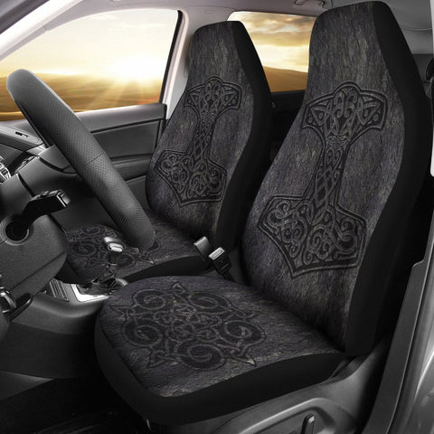 1stIceland Viking Car Seat Covers, Mjolnir Thor's Hammer Ha8-3 - 1st Iceland
