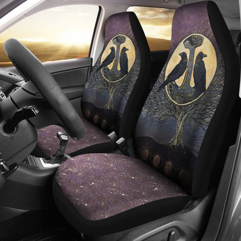 Image of 1stIceland Viking Car Seat Covers, Raven And Tree Of Life K5 - 1st Iceland