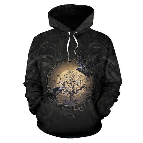 1stIceland Viking Pullover Hoodie, Raven Of Odin Tree Of Life K6 - 1st Iceland