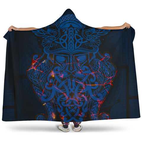 Image of Vikings Hooded Blanket, Odin The All Father Th00 - 1st Iceland