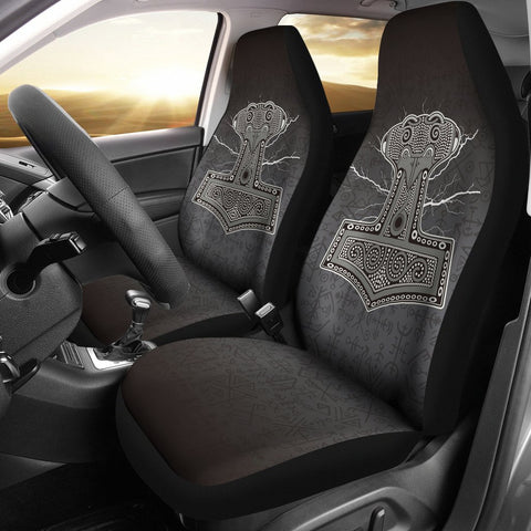 Image of 1stIceland Viking Car Seat Covers, Mjolnir Thor's Hammer Ha8 2 - 1st Iceland