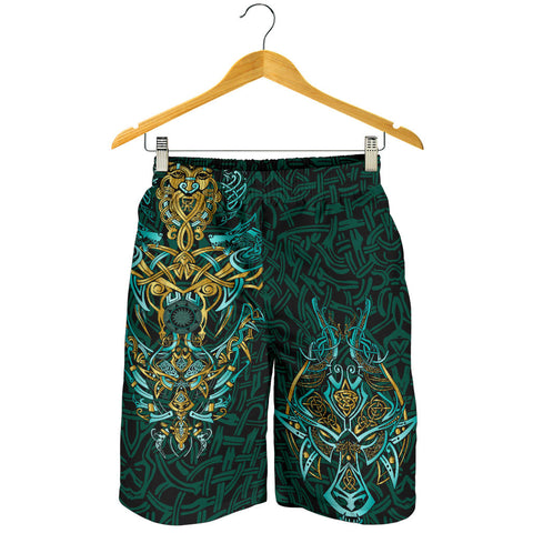 Image of 1stIceland Viking All Over Print Men's Shorts, Fenrir The Vikings Wolves Th00 - 1st Iceland