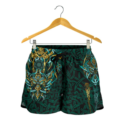 1stIceland Viking All Over Print Women's Shorts, Fenrir The Vikings Wolves Th00 - 1st Iceland