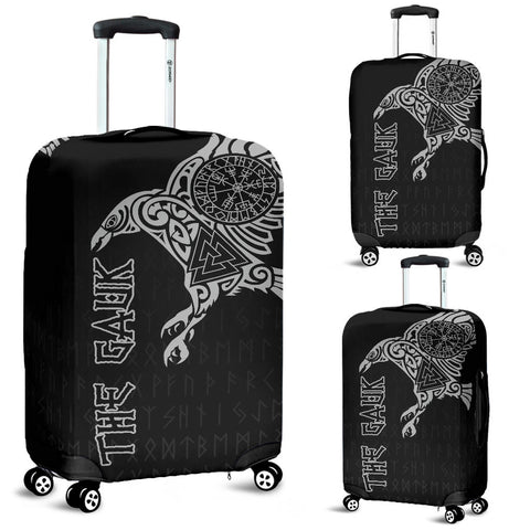 (Custom) 1stIceland Viking Luggage Covers, Raven Valknut Vegvisir Runes A7 - 1st Iceland