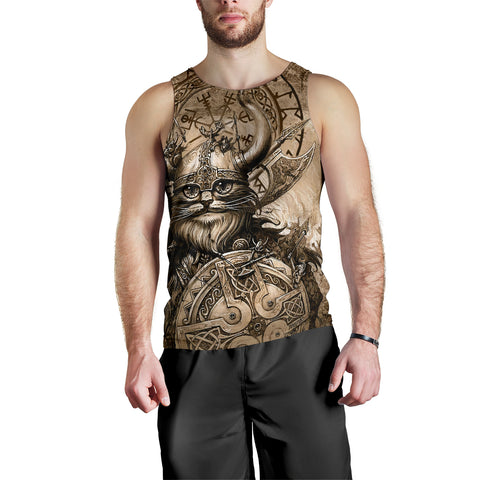 Image of 1stIceland Viking Men's Tank Top Classic Cat Version TH12 - 1st Iceland