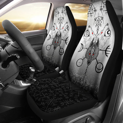 1stIceland Viking Wolf Car Seat Covers Runes Special K13 - 1st Iceland