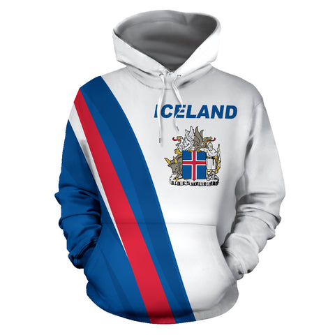 Image of 1stIceland Pullover Hoodie, Iceland Coat Of Arms K5 - 1st Iceland