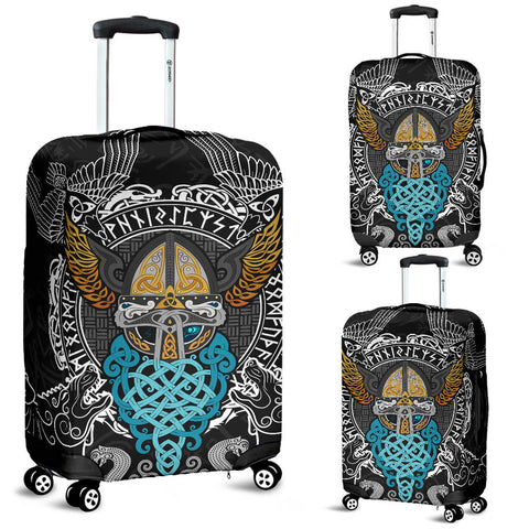 Image of 1stIceland Viking Luggage Covers , Odin Helmet Valnut Helm Of Awe Odin A7 - 1st Iceland