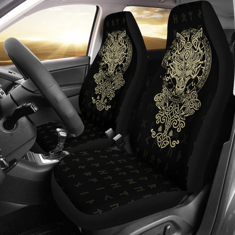 1stIceland Viking Wolf Fenrir Car Seat Covers TH12 - 1st Iceland