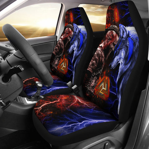 1stIceland Viking Car Seat Covers Ragnar and Wolf TH12 - 1st Iceland