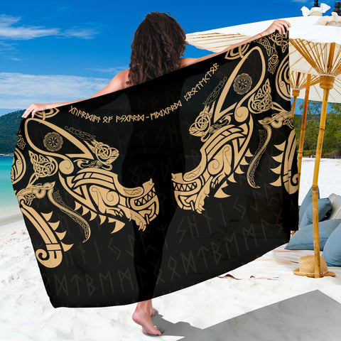 1stIceland Viking Sarong, Fenrir Tattoo The Ragnarok - Gold K4 - 1st Iceland