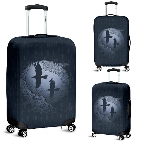 1stIceland Viking Luggage Cover, Odin's Eye Ravens Runes NN82 - 1st Iceland