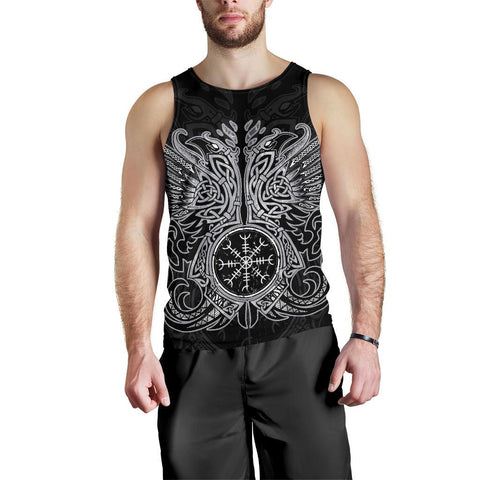 1stIceland Viking Men's Tank Top, Odin's Ravens Helm Of Awe Th5 - 1st Iceland