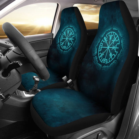 1stIceland Viking Car Seat Covers, Vegvisir Turquoise Y3 - 1st Iceland