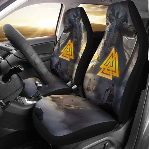Image of 1stIceland Viking Odin Valhalla 3D Car Seat Covers Valknut K8 - 1st Iceland