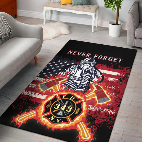1stIceland American Firefighters Area Rug 9.11.01 Memorial K8 - 1st Iceland