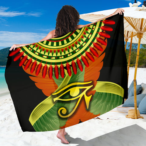 1stIceland Horus Eye Sarong Ankh Egypt Eagle Wings K8 - 1st Iceland