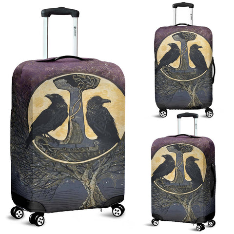 1stIceland Viking Luggage Covers, Raven And Tree Of Life K5 - 1st Iceland