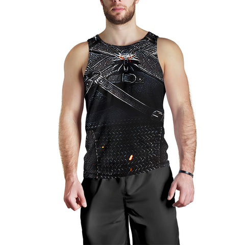 1stIceland Men's Tank Top, 3D Witcher Armor TH00 - 1st Iceland
