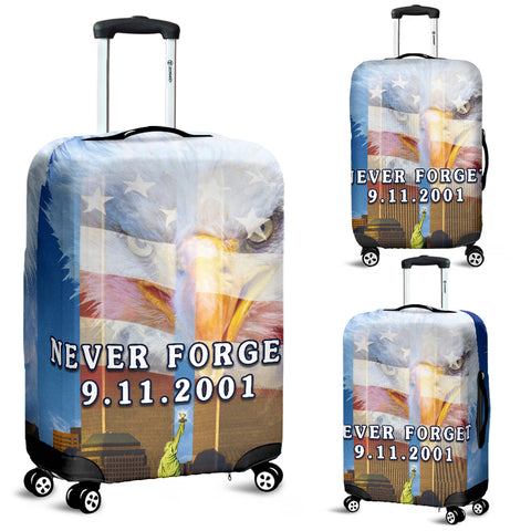 Image of 1stIceland American Firefighters Luggage Covers 9.11.01 Gratitude K8 - 1st Iceland