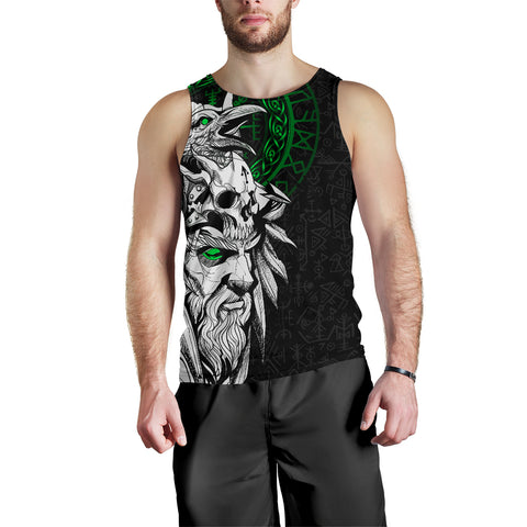 1stIceland Viking Odin And Raven Green Men's Tank Top TH12 - 1st Iceland