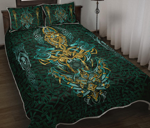 1stIceland Viking Quilt Bed Set, Fenrir The Vikings Wolves Th00 - 1st Iceland