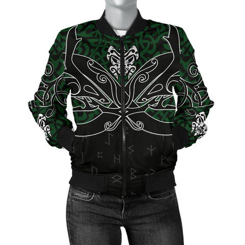 1stIceland Bomber Jacket for Women, Celtics Dragon Tattoo Th00 - 1st Iceland