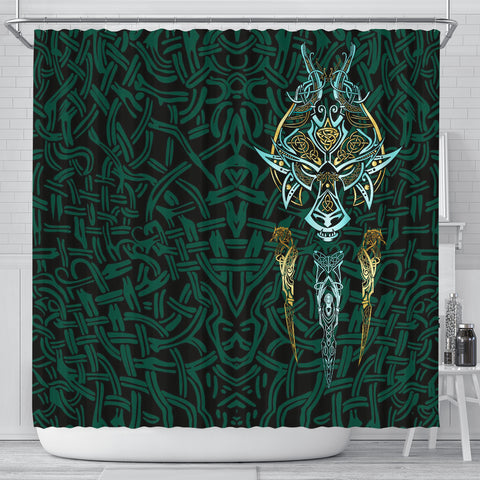 Image of 1stIceland Viking Shower Curtain, Fenrir The Vikings Wolves Th00 - 1st Iceland