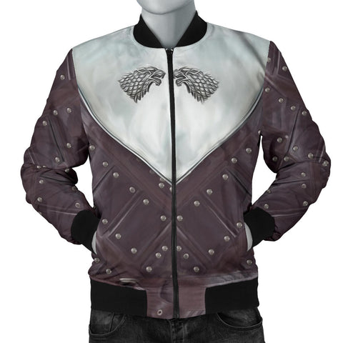 1sticeland Bomber Jacket for Men, 3D Arya Stark Armor All Over Print - 1st Iceland
