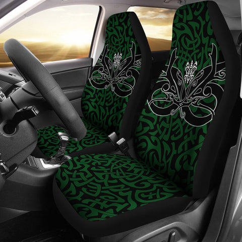 1stIceland Celtic Car Seat Covers, Celtics Dragon Tattoo Th00 - Green - 1st Iceland