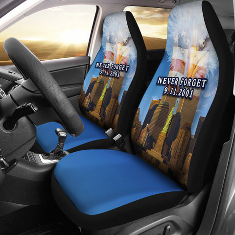1stIceland American Firefighters Car Seat Covers 9.11.01 Gratitude K8 - 1st Iceland